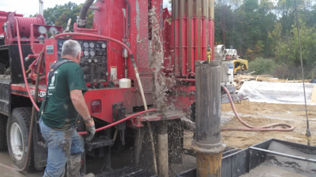 Cleaning out the well