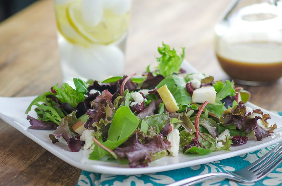 Spring Mix Salad with Pomegranate Honey Dijon Balsamic Vinaigrette-2