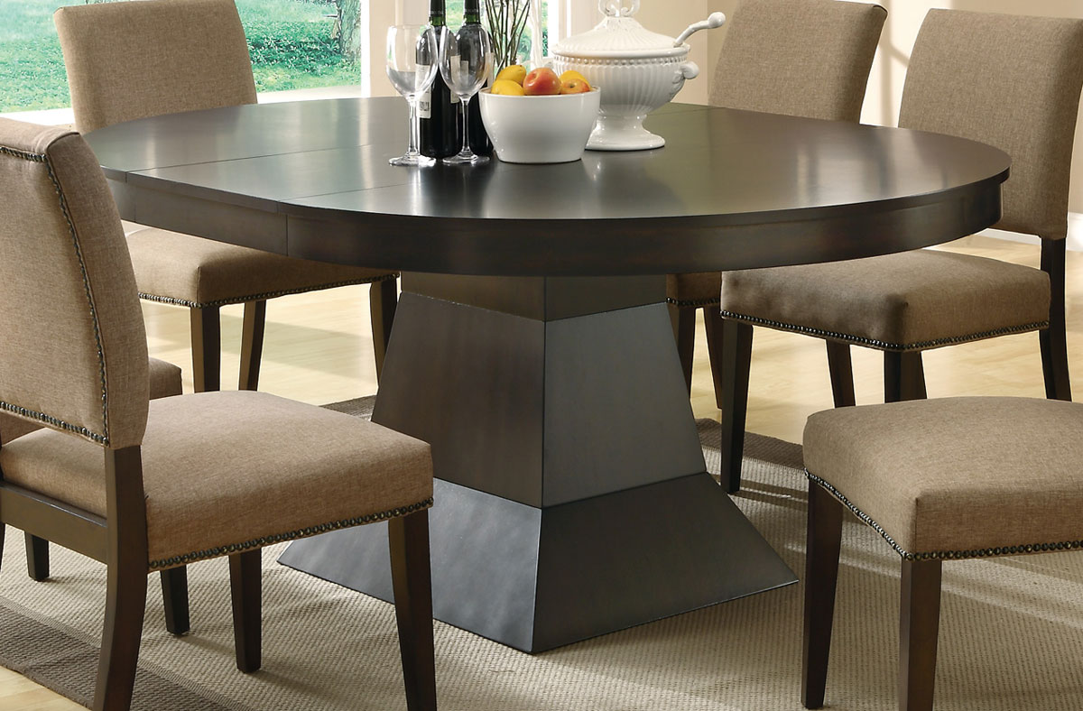 Coaster Furniture Myrtle Pedestal Dining Table CO p pedestal kitchen table Coaster Myrtle Pedestal Dining Table