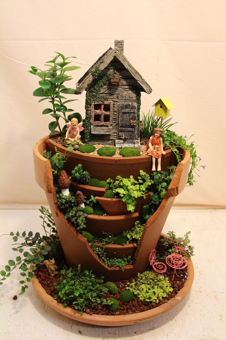 Soothing Broken Pot Fairy Garden Diy Miniature Fairy Garden Ideas To Bring Magic Into Your Home Diy Small Outdoor Garden Ideas Diy Small Space Garden Ideas garden Diy Mini Garden Ideas