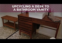 How to Upcycle a Desk to a Bathroom Vanity