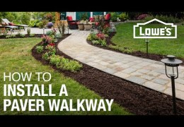 How to Plan and Install a Paver Walkway