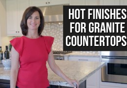 Leathered and Honed Finishes for Granite Countertops