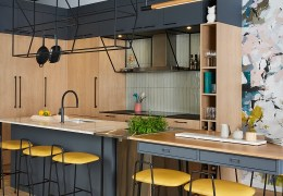 Modern Industrial Style Condominium Designed for Gardening and Cooking