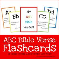 ABC Bible Verse Flashcard Printables ~ Teaching God's Word