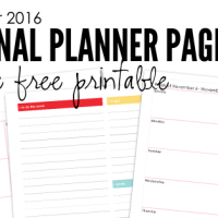November 2016 Planning Pages - Free Printable