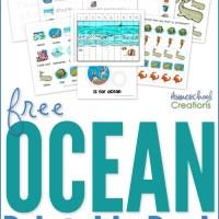 Ocean Preschool Pack ~ Free Preschool Printables