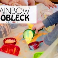 Monet Art Project and Rainbow Oobleck - Preschool and Kindergarten Community Link-up