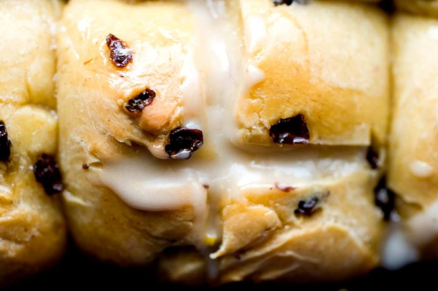 Honey-soaked hot cross buns | Homesick Texan