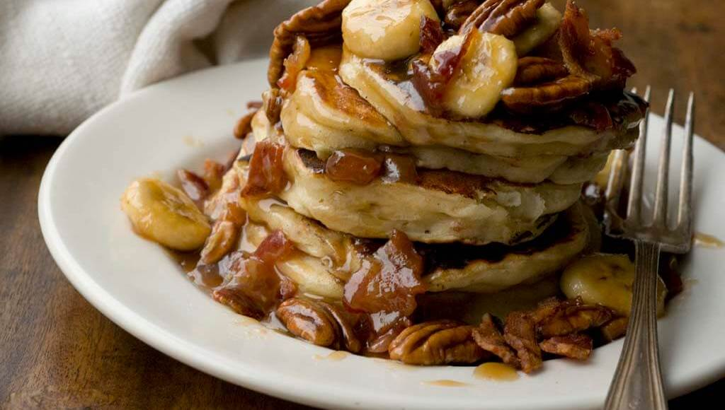 Banana bacon pecan pancakes | Homesick Texan