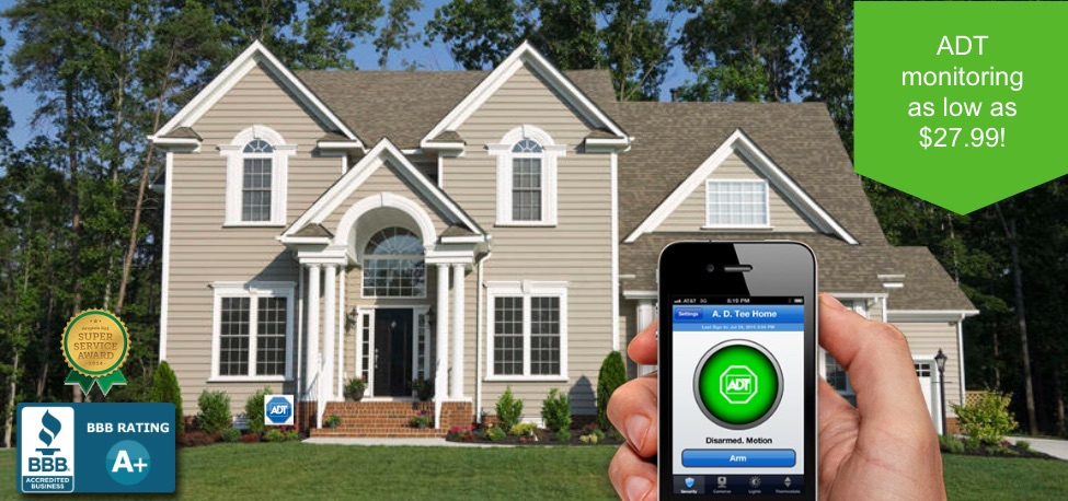 ADT Monitoring as low as $27.99!