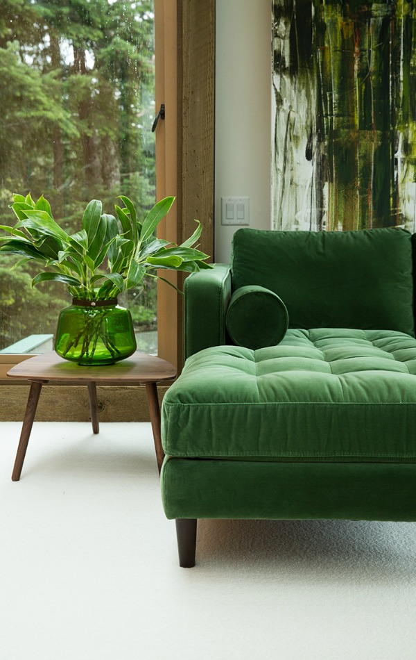 bringing the outdoors in with color and materials