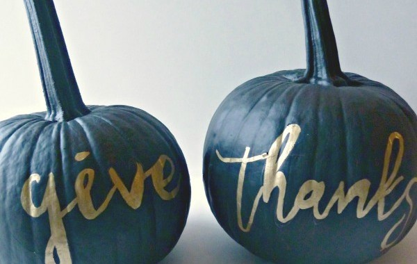 DIY Painted Pumpkins (for Thanksgiving)
