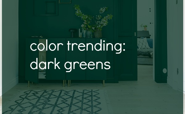 Dark Green Interiors