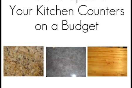 how to update kitchen counters