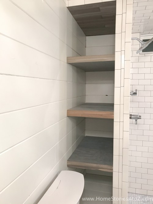 Medium Of Bathroom Shelf Wall