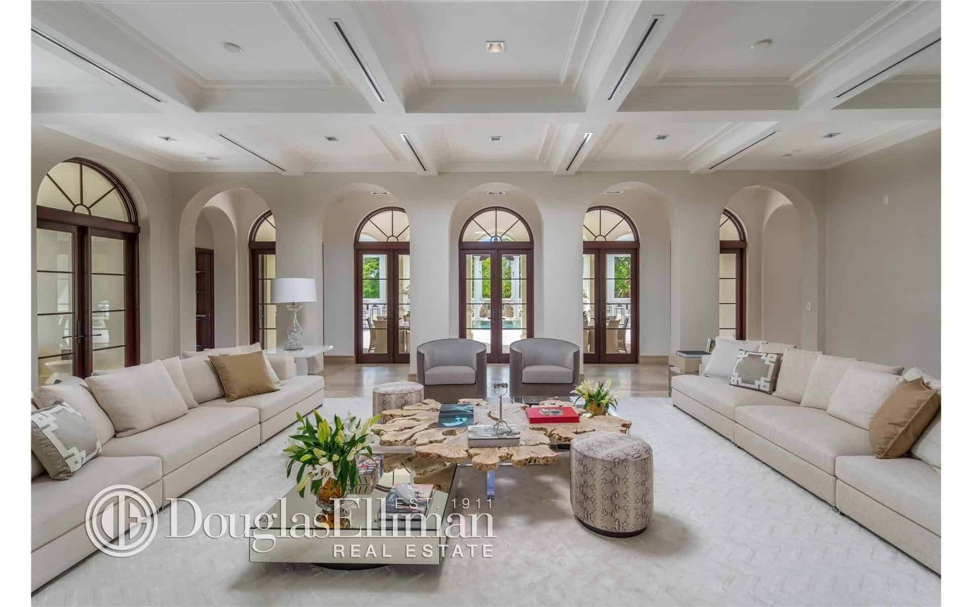 Great Anor Living Room Boasting A Huge Space Couches Coffered Living Rooms Without A Fireplace A Carpet Ing As Well As Long Pair houzz 01 Mansion Living Room