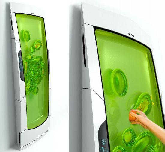 Electrolux bio robot refrigerator works on biopolymer gel for Bio robot fridge cost