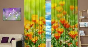Digitally printed curtains  2