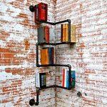 Industrial Corner Pipe Shelf