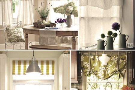 shabby chic decor and kitchen curtain ideas | afreakatheart