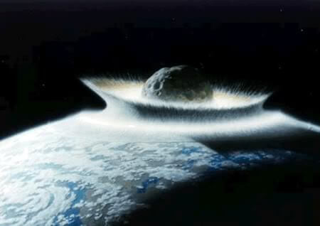Asteroid hitting Earth