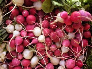 Radishes Hot Dog Topping