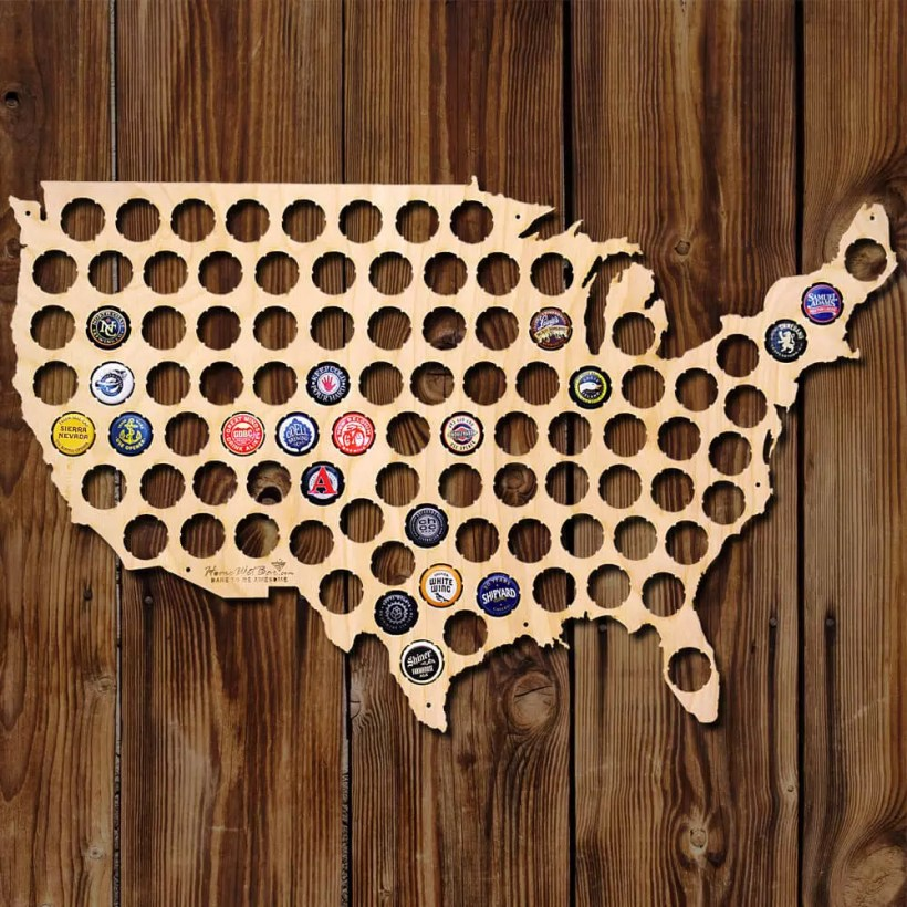 Beer Cap Map Giveaway - Enter to Win!