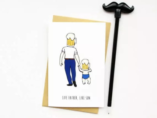 Funny Fathers Day Cards - Like Father, Like Son