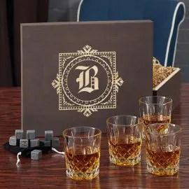 Monogrammed Whiskey Set