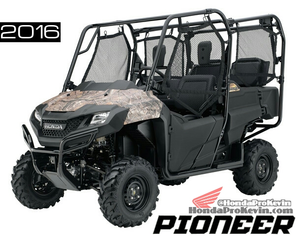 2016 Honda Pioneer 700-4 Review - Specs - Side by Side / UTV / SxS ...