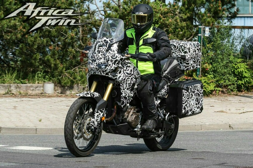 new 2016 honda africa twin crf1000l spy photos honda pro. Black Bedroom Furniture Sets. Home Design Ideas
