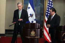 Honduras Chancellor Arturo Corrales US Sub-Secretary Denis Mcdonough