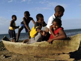 Garifuna Boys on Children's Day in Honduras