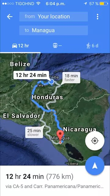 Apps like Google maps and Waze when traveling in Honduras!