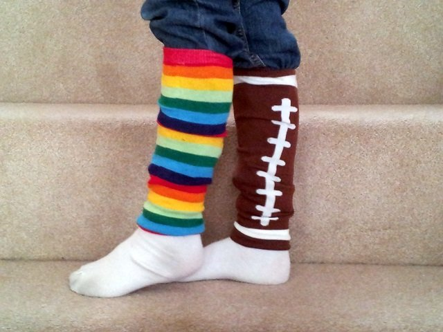 Little miss with rainbow brite and football leg warmers