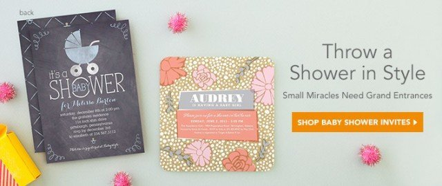 Tiny Prints Shower Invitations