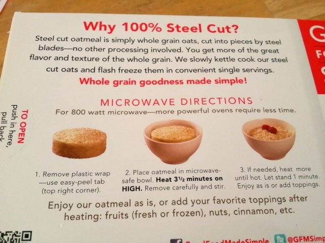 Good Food Made Simple steel cut oats