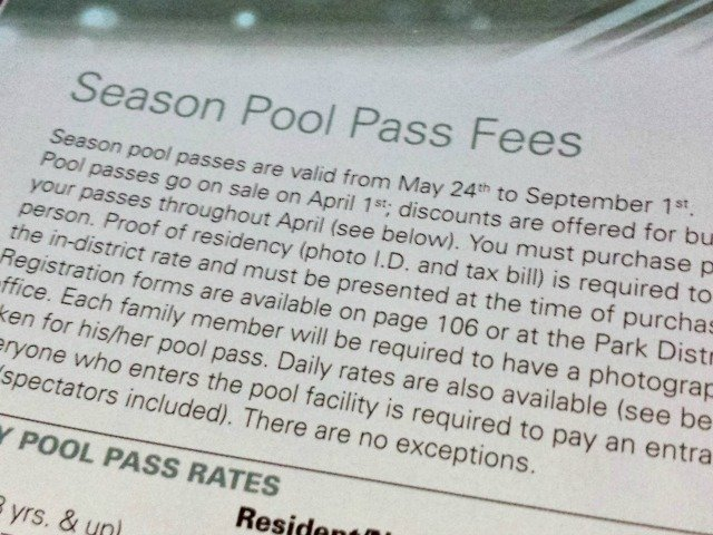 Strict rules to buy in district pool passes