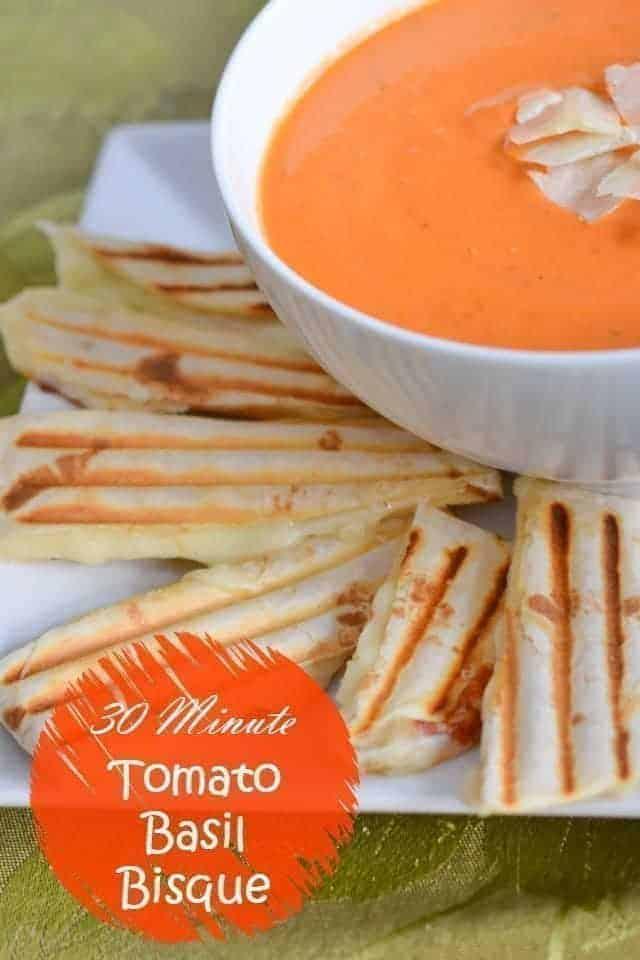 30 minute tomato basil bisque