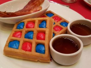 From There to Here Cat in the Hat breakfast Suess at Sea waffles