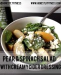 pear spinach salad small