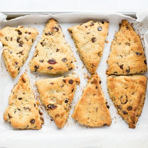 Grain-Free, Vegan Cranberry Orange Scones with Chocolate Chips