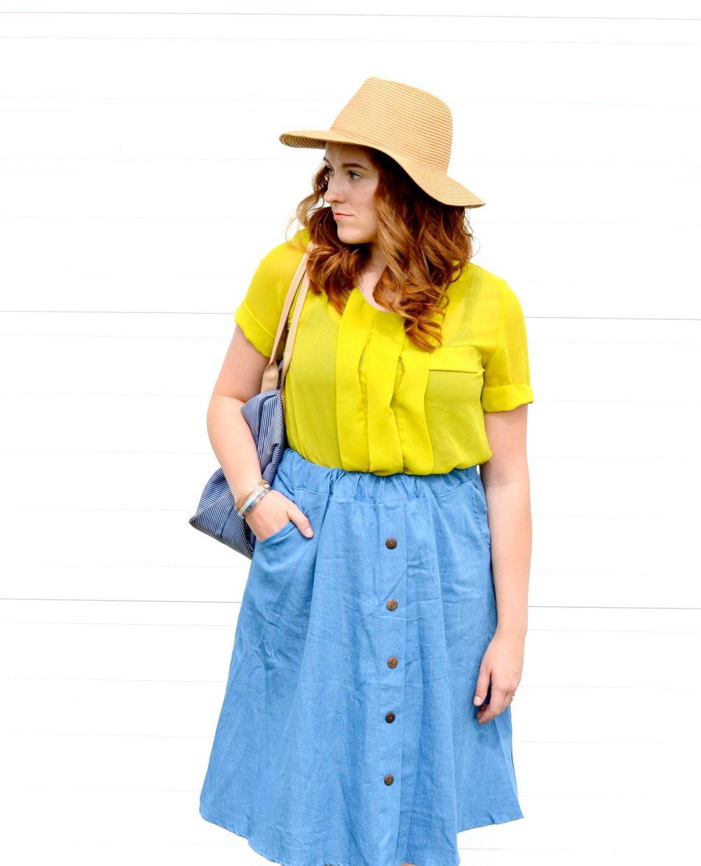 Denim Skirt style, Honey & Betts, Canadian Fashion Blogger