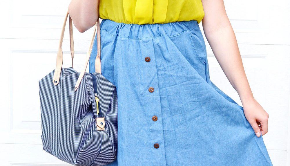 Denim Skirt Style, Canadian Fashion Blogger