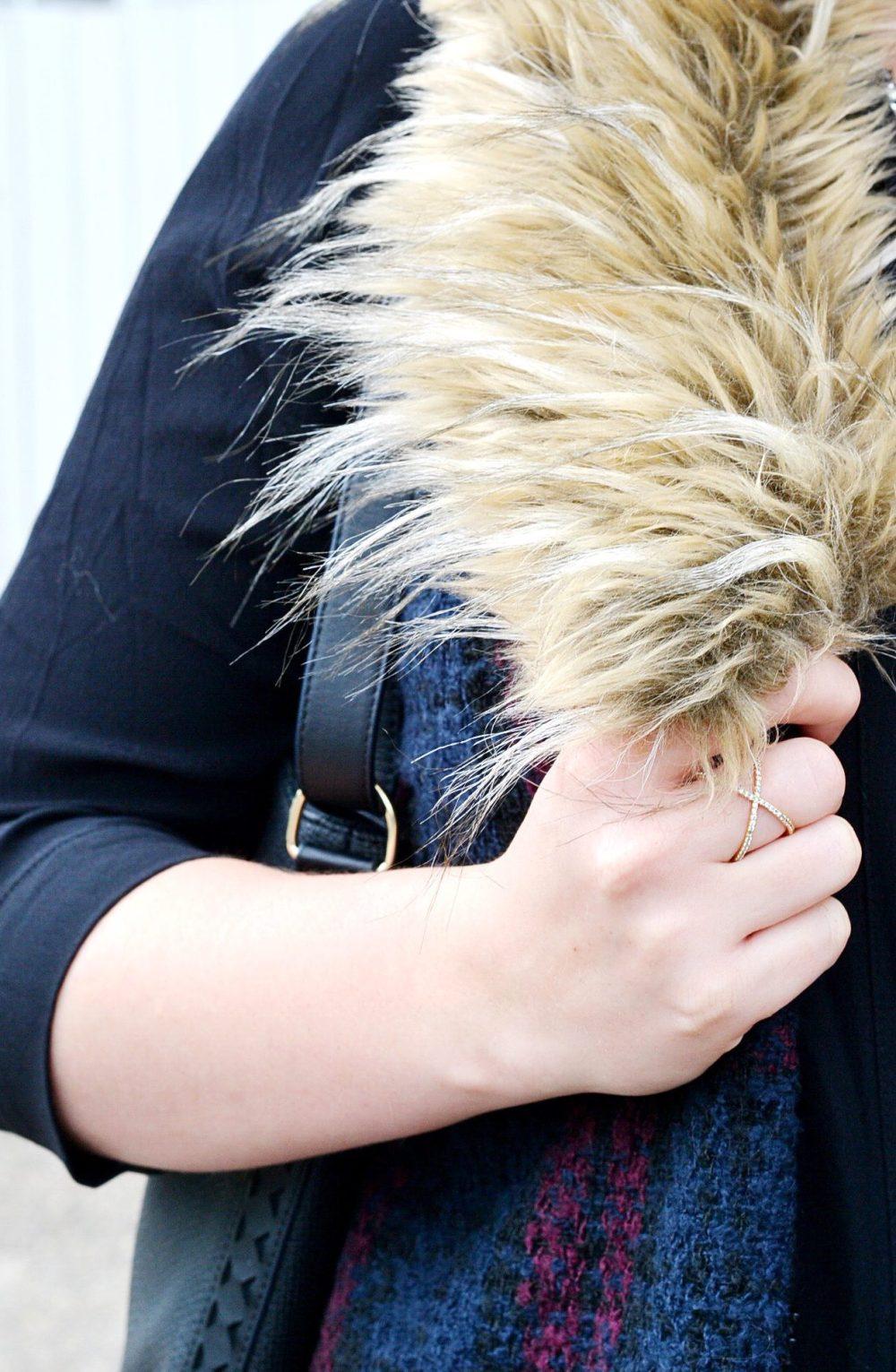 Close Up Of Faux Fur Vests