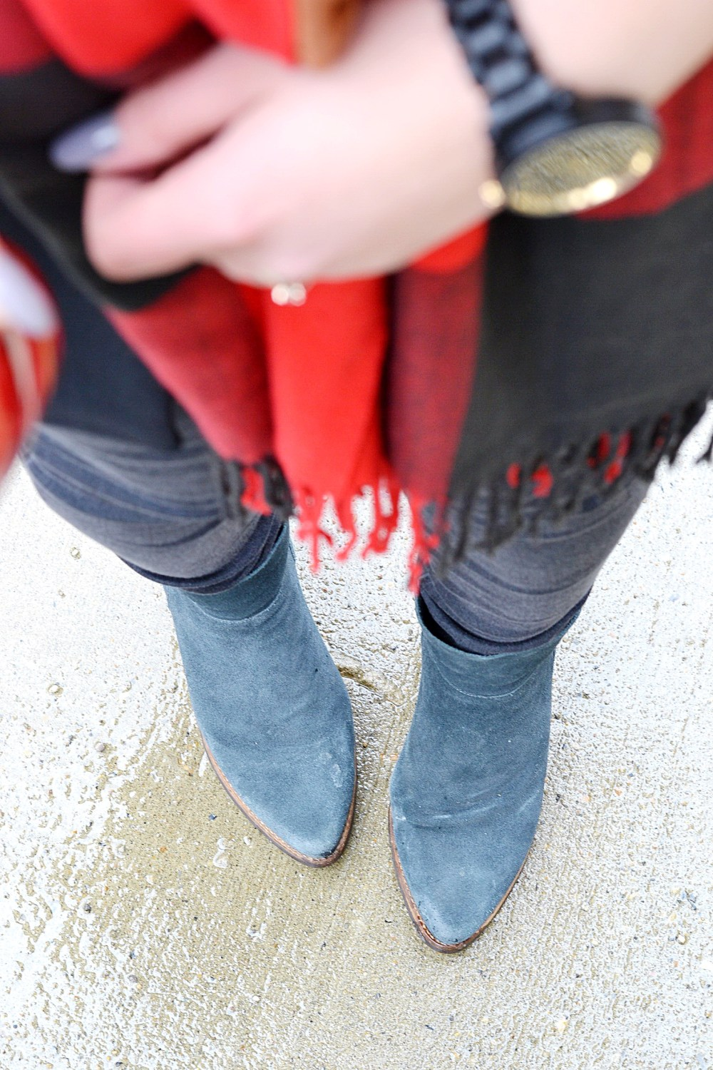 Navy Suede Boots Canadian Fashion Blogger