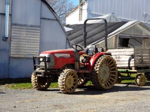 Tractor with Steel Wheels