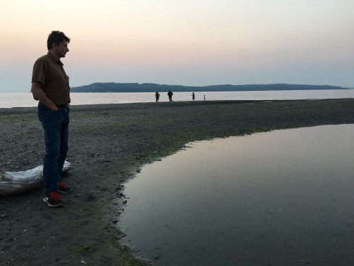 My hubby checking out the tide pools.