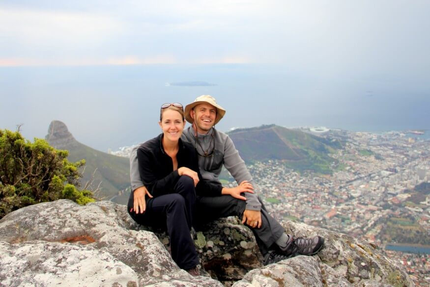 Mike & Anne Howard on Table Mountain in Cape Town, South Africa